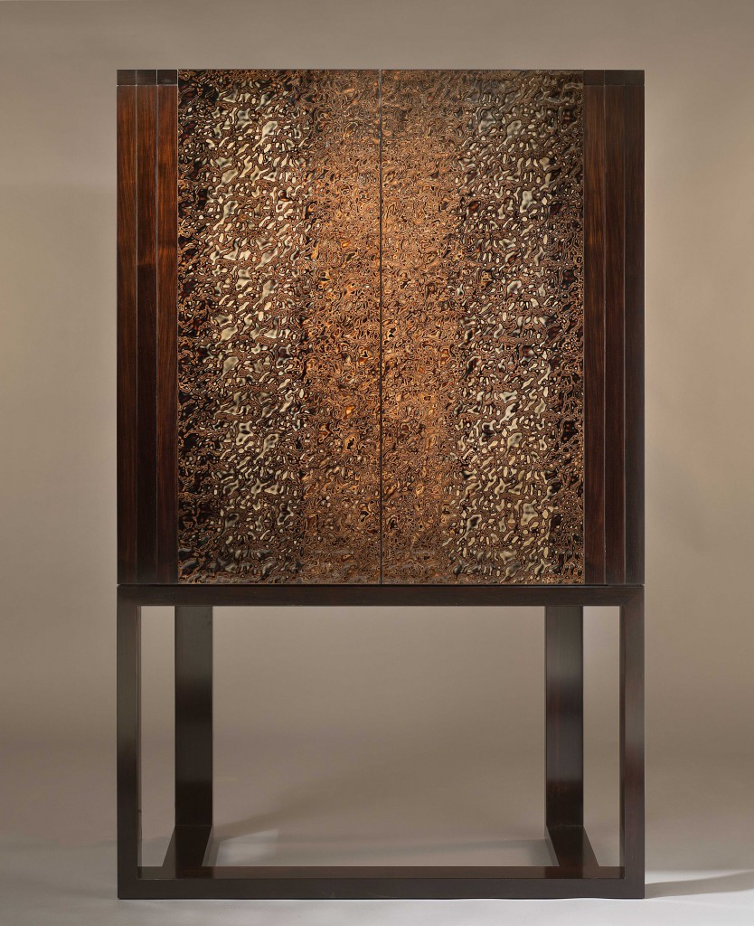 African Blackwood And Urushi Cabinet